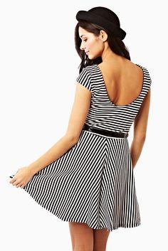 Striped Skater Striped Dress