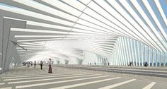 Elevated Train Station at Northern Italy, by Santiago Calatrava.
