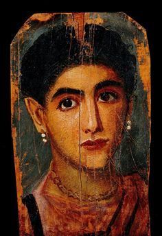 Mystérieux portrait de femme du Fayoum - Epoque gréco-romaine - Louvre100CE - 300CE Fayum / Romano-Egyptian / Roman / EncausticMore Pins Like This At FOSTERGINGER @ Pinterest