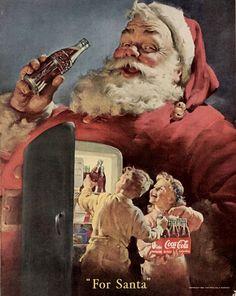 santa with coke- norman rockwell