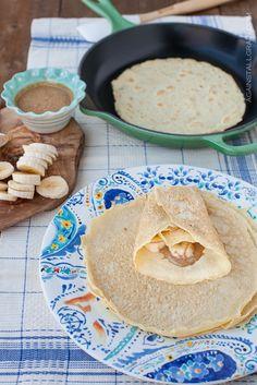 paleo crepes, paleo crepe recipe, almond milk, grain free, almond butter, coconut oil, gluten free, grainfre paleo, coconut flour