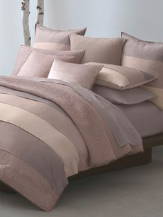 City Block Duvet Cover by Donna Karan Home on Gilt Home  Love these shades of pink/mauve!