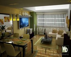 3d Interior Design, Interior Rendering, Studio Type Condo, Thing 1, Flat Screen, Conference Room, Bedroom, Table, Furniture