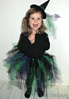 No Sew Little Witch Costume