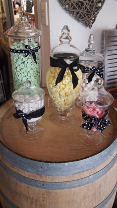 Candy Jar Set does not include candy Centerpieces, Table Decorations, Candy Jars, Wedding, Home Decor, Valentines Day Weddings, Decoration Home, Candy Mason Jars, Room Decor