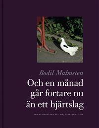 http://www.adlibris.com/se/product.aspx?isbn=9186629832   Titel: Och en månad går fortare nu än ett hjärtslag - Författare: Bodil Malmsten - ISBN: 9186629832 - Pris: 165 kr