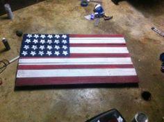 The Closet Intellectual: Bay's Flag: A Patriotic DIY!