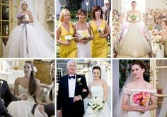 Best Movie Wedding Dresses 2009 including Kate Hudson and Anne Hathaway in movie Bride Wars, Rashida Jones in film I Love You, Man, more at www.sevenyearitchs.com/2010/06/28/vote-for-your-best-movi....