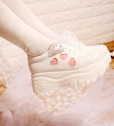 Japanese Lolita Heart High Platform & Low Platform Sneaker Shoes SD01940