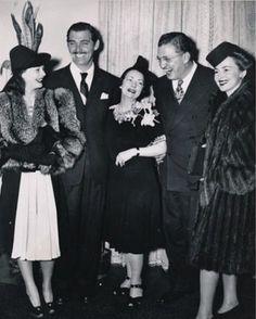 Vivian Leigh, Clark Gable, Margaret Mitchell, David Selznick, Olivia de Havilland