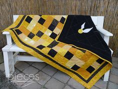 Golden Snitch Harry Potter Inspired Quilt - FREE Hogwarts Letter Incl.- Hufflepuff - Ravenclaw, Gryffindor, and Slytherin Avail.