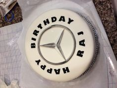 Mercedes themed birthday cake.