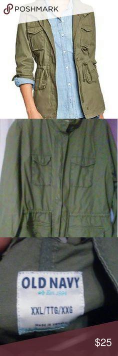 Women's Utility Coat Drawstring waist. Old Navy Jackets & Coats Utility Jackets
