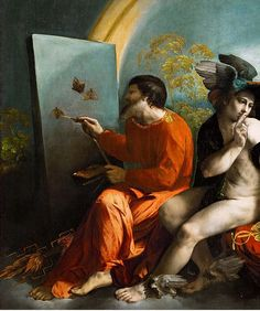 Dosso Dossi, Jupiter Painting Butterflies, c. 1524 (detail)