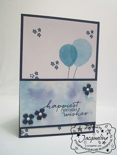 Stampin' Up!  by Stampin Jacqueline: Balloon Celebration en Watercolouring techniek