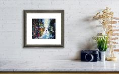 """Autumn City Framed Print by Iulia Paun. Original abstract cityscape painting. Modern pallet knife acrylic on canvas home decor. Ready to hang wall artwork. Size: 60x70 cm / 24""""x28"""" #art #painting #abstract #acrylic #modern #original #wall #decor #gift #cityscape #landscape #palletknife Poster Prints, Framed Prints, Art Prints, Framed Art, Canvas Prints, Thing 1, Fractal Design, Art Original, Tree Bark"""