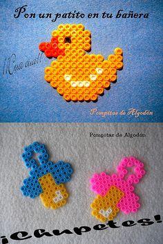 Broches BEBÉ hama beads by ♥ Pompitas de Algodón ♥