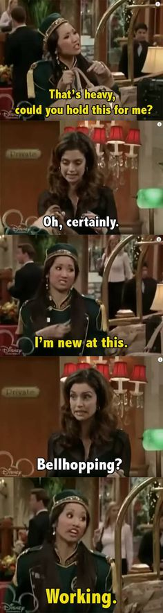 Old Disney Tv Shows, Disney Channel Shows, Life Moments, Funny Moments, Funny Things, Suit Life On Deck, London Tipton, Jesse Mccartney, Zack E Cody