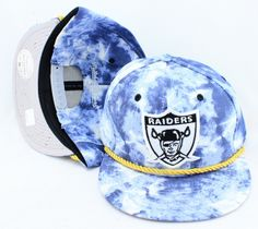 NFL OAKLAND RAIDERS Mitchell And Ness x SNAPBACK HATS Blue 186 9073! Only $8.90USD