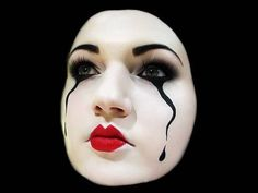 Halloween makeup tutorial .Pantomime Mask Makeup for Halloween (by MissChievous) - YouTube