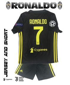GolPro Juventus Soccer Jersey for Kids - Juventus Ronaldo No.7 - Replica  Jersey Kit add835a42d025