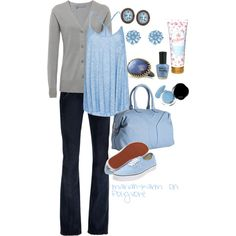 Baby Blue, created by mariah-karm on Polyvore