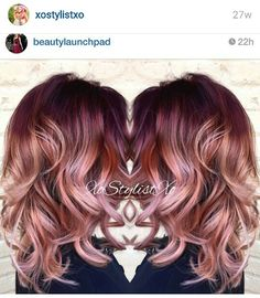 10 stunningly beautiful Rose Gold Hair styles (pin now read later!) 10 stunningly beautiful Rose Gold Hair styles (pin now read later!) Elm Drive Designs The post 10 stunningly beautiful Rose Gold Hair styles (pin now read later!) appeared first on Haar. Cabelo Rose Gold, Rose Gold Hair, Rose Gold Bayalage, Hair Color 2017, Hair Color And Cut, Red Ombre Hair, Ombre Rose, Pink Hair, Red Violet Hair