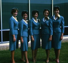 United Airlines Stewardesses, 1963