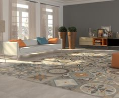 1000 images about senlisse on pinterest entryway deco - Carrelage imitation carreaux de ciment ...