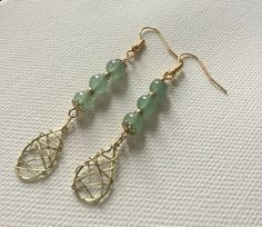 Hey, I found this really awesome Etsy listing at https://www.etsy.com/listing/289923619/green-aventurine-dangledrop-earrings