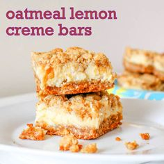 oatmeal lemon creme bars. She also has the recipe to make the cookie from scratch