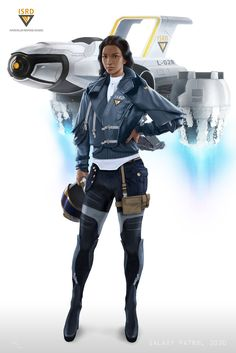 Character concept for my personal project Galaxy Patrol 3030. Zola Temes a pilot in the ISRD (Interstellar Response Division)