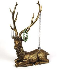 Antlered Deer Jewelry holder