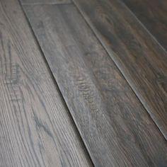 White Oak Charcoal Briquette x Hand Scraped Solid Hardwood Flooring Types Of Wood Flooring, Grey Flooring, Hardwood Floors, Engineered Bamboo Flooring, Charcoal Briquettes, White Oak Floors, Waterproof Flooring, Floor Finishes, Red Oak