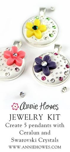 Bling it! This DIY jewelry kit teaches you how to make these! From Annie Howes. www.anniehowes.com