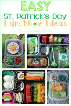 Easy St. Patrick's Day Lunchbox Ideas