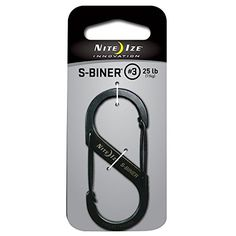 Nite Ize Size3 SBiner Dual Spring Gate Carabiner Black * Amazon most trusted e-retailer