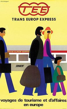 Trans Europe Express (TEE) #travel #poster by Guy Georget  1976