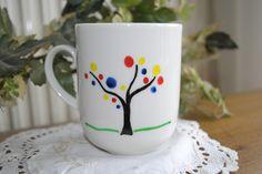 Geschirr- & Porzellan-Sets - Tasse mit Baummotiv :) - ein Designerstück von Paulinkavonlyser bei DaWanda