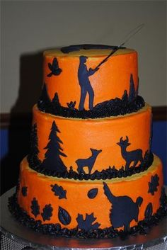 Nicole how cute would this be for Eric or Zac hunting cake Food