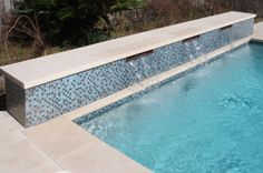 Mirabella Light Limestone Paving and Pool Coping in Antiqued Finish