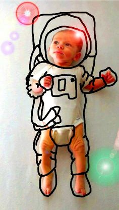 Mom Draws Doodles Around Newborn Child's Photos for a Chuckle-worthy Setting « Randommization