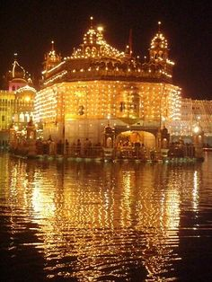 Waheguru ji Golden Temple Amritsar, Religious Photos, Paris Skyline, Around The Worlds, Tower, Places, Nature, Quotes, Travel