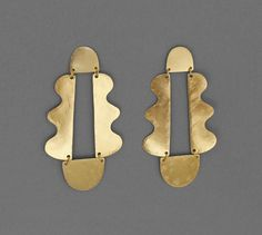 Earrings : Image of Matisse Chandelier Earrings Gold Clay Jewelry, Metal Jewelry, Jewelry Art, Jewelry Accessories, Jewelry Design, Fashion Jewelry, Gold Jewelry, Steampunk Fashion, Gothic Fashion