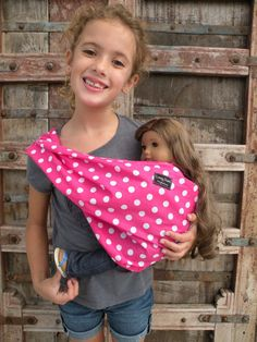 LARGE-Baby Doll Sling Carrier-Perfect For American Girl