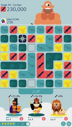 MUJO (iOS) • ★★★☆☆ • Sort of the relaxing version of other match-three, two-dots/candy crush like games. That's because you never run out of lives, and so you can just happily match-3 into oblivion, defeating monsters as you go. The gods are a clever way of embedding special skills in the game as well.