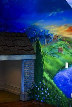 playroom murals | mural design photo 44212 neverland playroom mural design photo 44214 ...