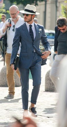 Men in Suit accessoried with Hat Tie & Square — Men's Fashion Blog - #TheUnstitchd