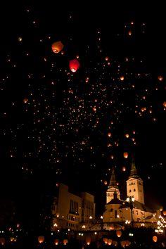 Lanterns of happiness, Zilina, Slovakia