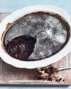 This easy chocolate pudding recipe from Mary Berry makes a simple but impressive dinner party dessert, or is perfect served with cream after a Sunday roast. Easy Chocolate Pudding, Magic Chocolate, Hot Chocolate Fudge, Chocolate Mousse Cake, Chocolate Lovers, Chocolate Cakes, Mary Berry Chocolate Cake, Hot Fudge, Self Saucing Pudding